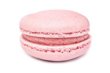 Pink French Macaroon Isolated On White