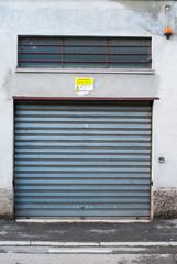 Porta garage zincata, saracinesca