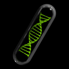 DNA Capsule - Green & Black