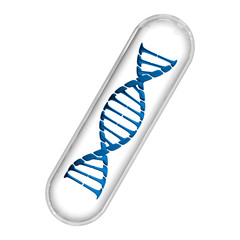 DNA Capsule - Blue & White