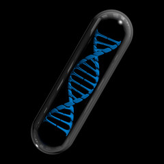 DNA Capsule - Blue & Black