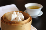 Type of Chinese Steamed Bun with tea cup