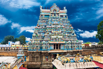 Indian architecture. Sri Ranganathaswamy Temple