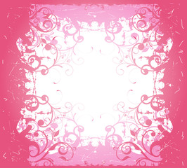 astratto floreale rosa