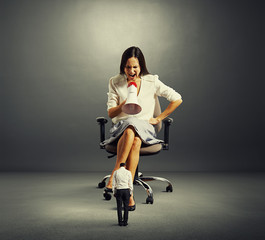 dissatisfied woman sitting