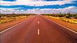Straße im Hinterland Australiens