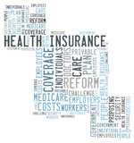 Health insurance word cloud