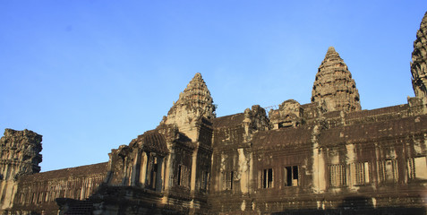 Bayon Temple at Angkor in Cambodia
