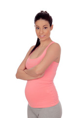 Pregnant woman in sportswear