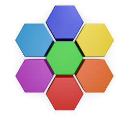 Business Hexagon Chart Diagram