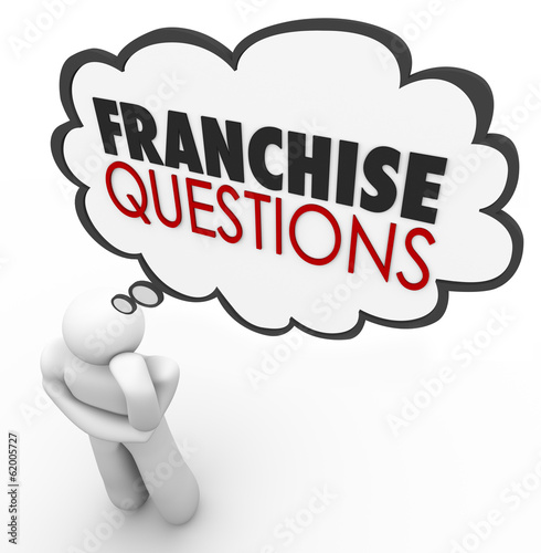 Franchise Questions Business Person Help License Chain Store Bra