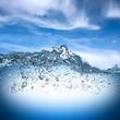 Leinwandbild Motiv water wave
