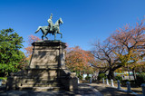 Statue of warrior on horse in Ueno, Tokyo