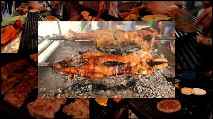grill burgers barbecue pig lamb