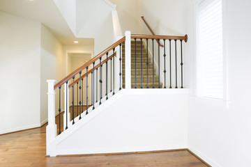 Residential Home with Woodend Floors and Custom Staircase