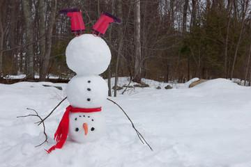Snowman headstand