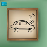 Car repair sign drawing on blackboard background