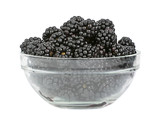 Blackberry fruit in glass plate