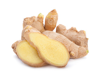 Ginger root with slice