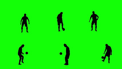 Footballer juggling the ball.