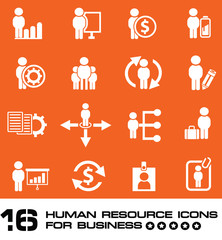 Business human resource,icon set