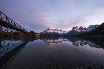 Early morning in Torres del Paine National Park, Chile.