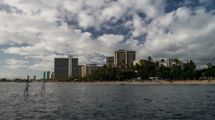 Waikiki Beach Time Lapse Loop