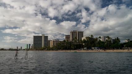 Waikiki Beach Time Lapse Loop