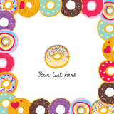 Cute postcard with donuts.