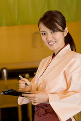 woman working in Japanese style pub