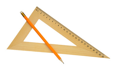 Ruler and yellow pencil.