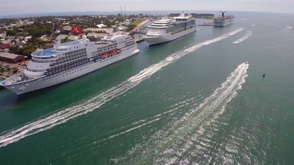 Aerial video Key West Florida