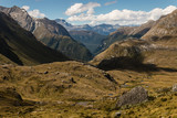 glacial valley in Mount Aspiring National Park, New Zealand