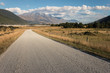gravel road in Southern Alps, New Zealand