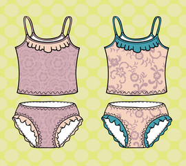 Top and panties. Vector illustration.