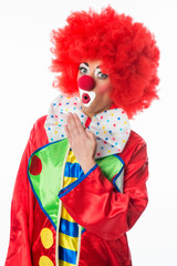 Erstaunter Clown