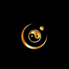 Harmony Logo concept with yin yang