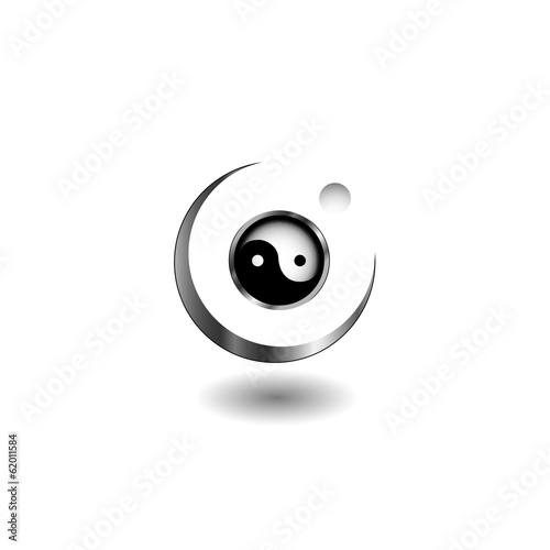 Logo concept with yin and yang