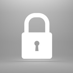 Glowing silhouette of lock