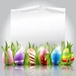 Easter eggs background with elegant
