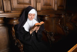 Praying novice nun