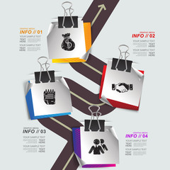 Modern design for business infographic