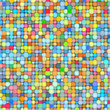 3d bubble balls pattern mosaic backdrop in multiple bright color