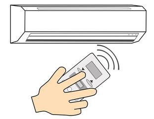 エアコンのリモコン操作