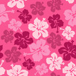 Cotton fabric Floral seamless pattern of Hawaiian hibiscus