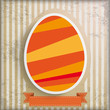 Vintage Background Easter Egg Stripes