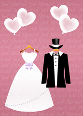 illustration of Wedding clothes