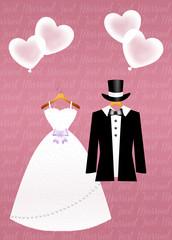 illustration of Wedding clothes