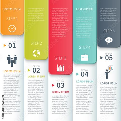 Modern Minimalistic  Multicolour Infographics Template