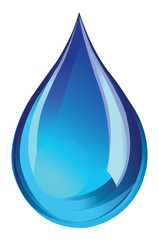 blue water droplet icon